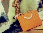 桔色戴妃包