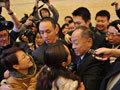 媒体记者追访李肇星