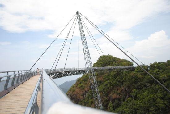浮桥:也称天空桥,有一半是悬空的
