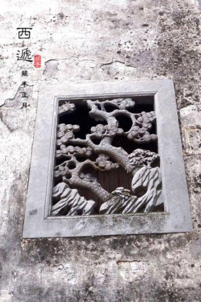 石雕花是西递的一大特色