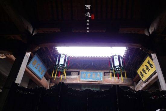 天井是徽式建筑的另一个特征