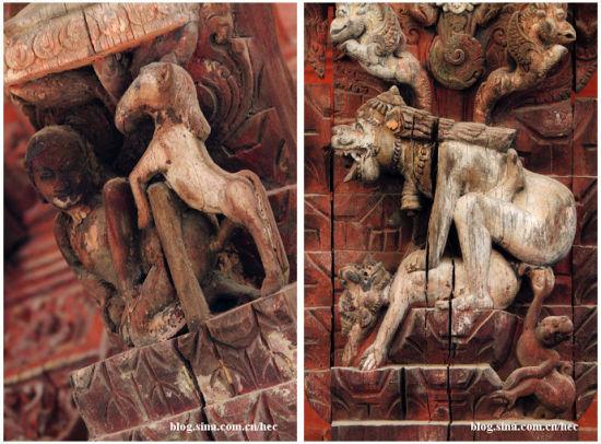 这些雕刻只是尼泊尔宗教和艺术的表现形式