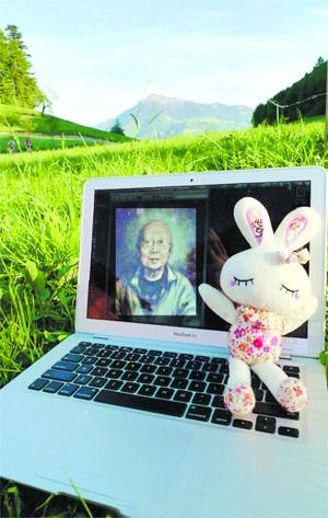 """网友""""溪子子"""":5月11日傍晚拍于瑞士,远处的山是瑞士的山峦皇后――瑞吉山。"""