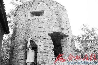炮楼部分墙体已被破坏