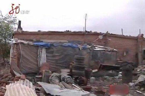 被拆毁的房屋(图片来自视频截图)