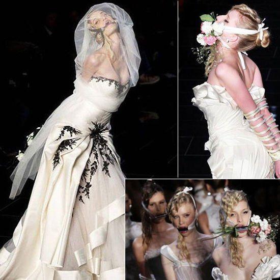 捆绑的新娘诠释另类婚姻理念 购物频道