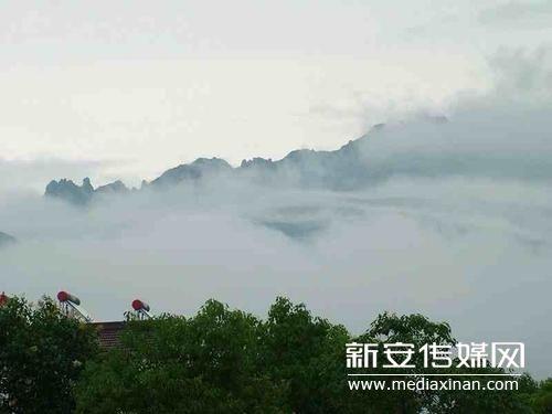 九华山雨后现云雾奇观