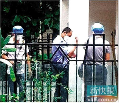 ■发现尸体后,警方到现场处理。 报料人供图