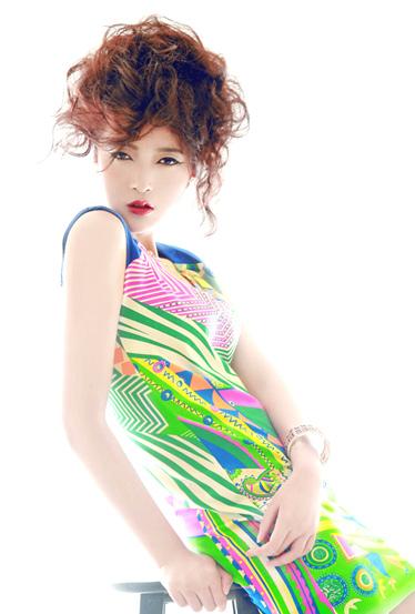 达人变星记不规则图案欧美风包身裙