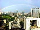 合肥雨后现绚丽彩虹