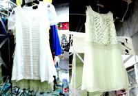 白色镂空罩衫