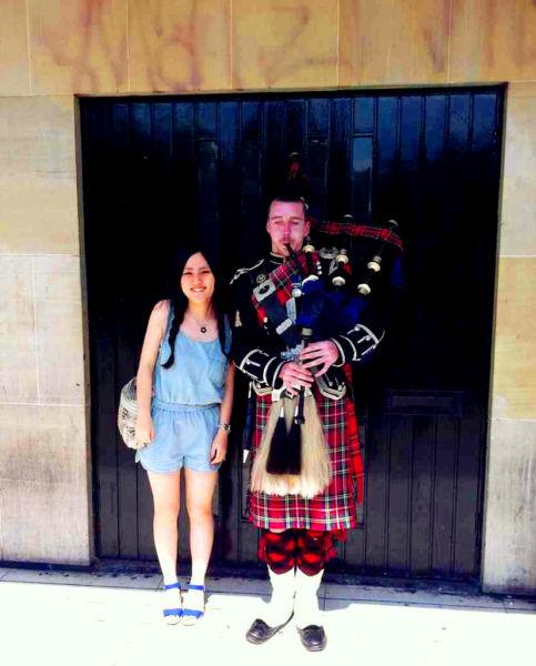 爱丁堡吹风笛艺人