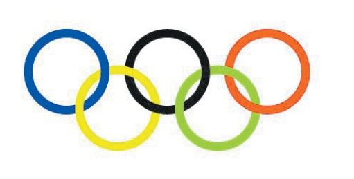 奥运五环官方标志。