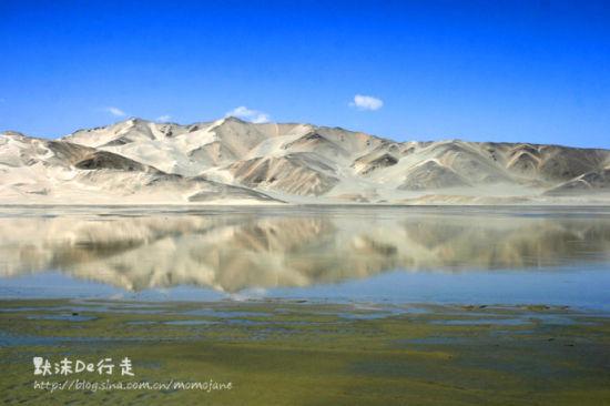 美丽的山与水,连在一起,不分彼此