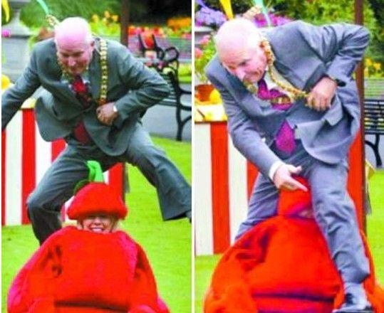 英市长跳跃女子不慎打滑将其撞伤