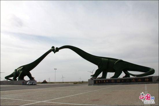 二连浩特市市门恐龙门