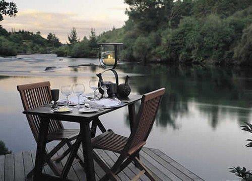 新西兰,北岛,陶波,胡卡庄园的餐厅