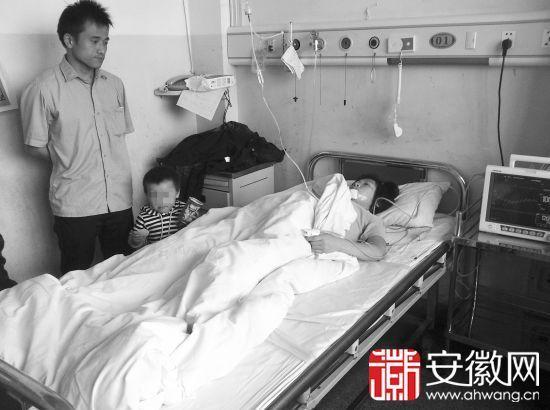 受伤的王女士躺在病床上,她从未想到自己会遇到这种事