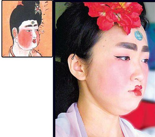 陈妍卉模仿4种唐朝仕女妆容