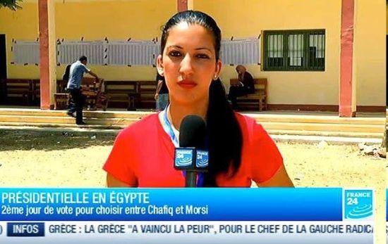 """法国24电台称其女记者索尼娅?德里迪(图)19日在埃及开罗解放广场采访时,遭到""""野蛮攻击"""" 。"""