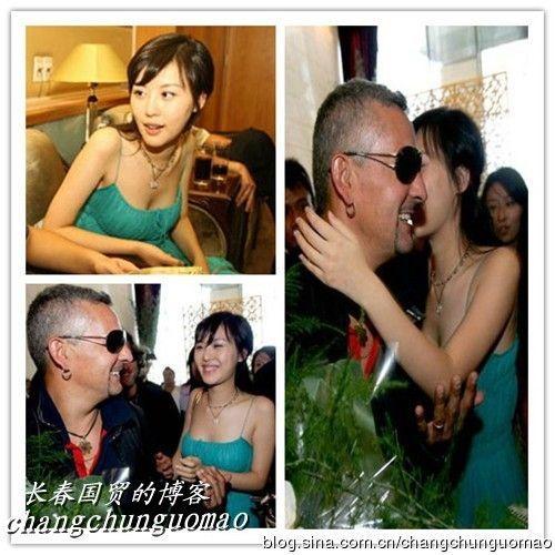 王石绯闻女友曾强吻巴乔。图片来源:长春国贸博客