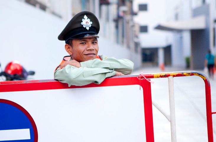"""曼谷街头""""奥巴马"""""""