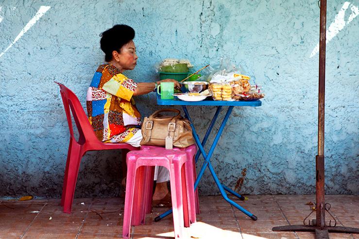 曼谷清晨 街头早餐