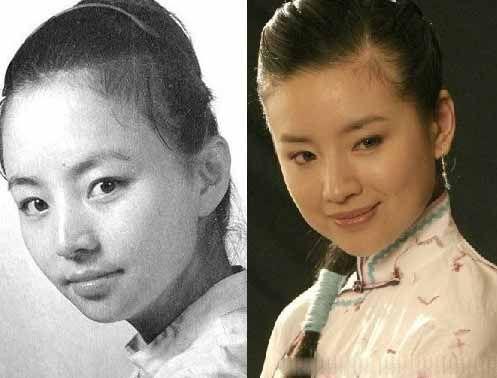 宋丹丹 董洁 可是说年轻时候的丹丹姐也是美女一枚啊,这神情咋就这么像呢