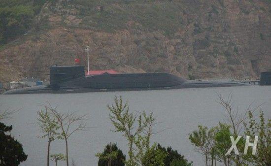 资料图:中国094战略导弹核潜艇。