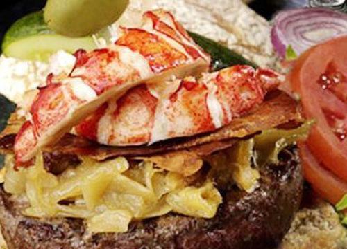 神户牛肉加缅因州龙虾汉堡