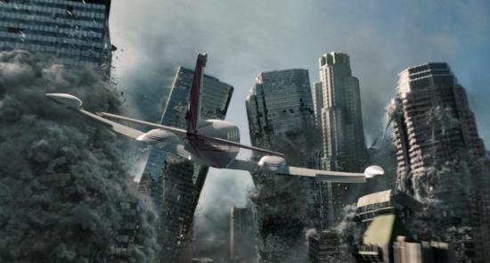 《2012》中建筑物倒塌的场景