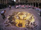 令人震惊的3D街头画