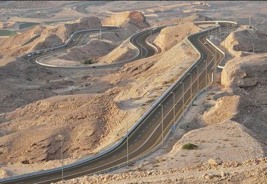 Jebel Hafeet山路,艾恩,阿拉伯联合酋长国