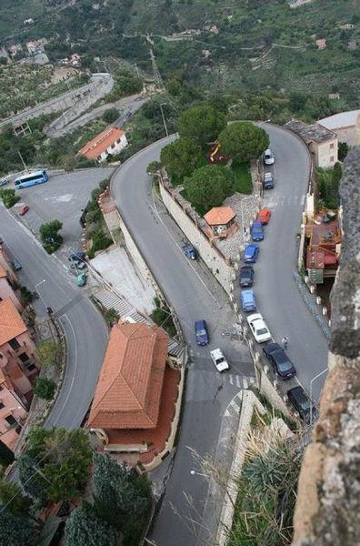 喀斯特莫拉镇公路,西西里岛,意大利