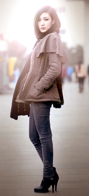 冬日休闲保暖装扮