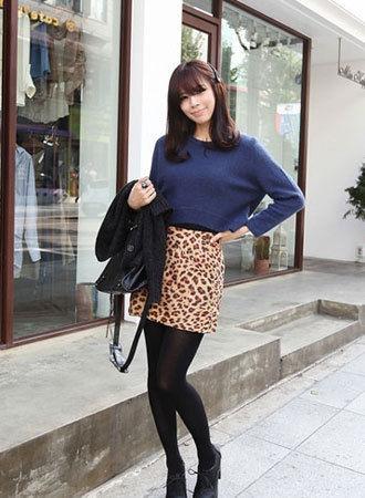 豹纹短裙如何搭配_豹纹短裙怎么搭配上衣呢MM帮出出主意吧