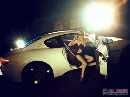 美女豪车雪铁龙女士豪车豪车广告惹火美女与豪车