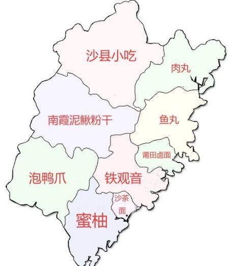 吃货眼中的中国美食地图
