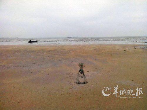 游客在广东意外拍摄到疑似外星人和UFO照片