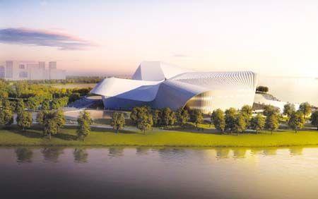 蚌埠音乐厅歌剧院设计效果图。(图片来源:蚌埠新闻网)