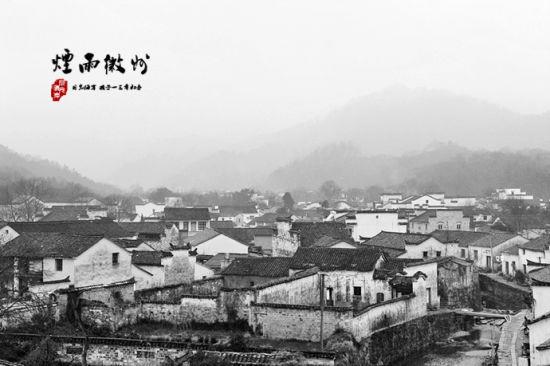 雨中风景手绘黑白