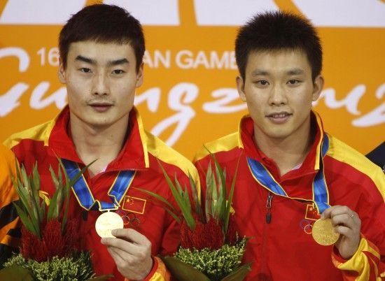 2012年伦敦奥运会与秦凯获得双人3米板冠军