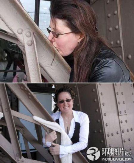美国一退伍女兵结婚老公竟是埃菲尔铁塔