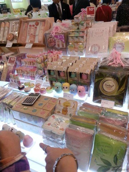 济州岛免税店里的化妆品