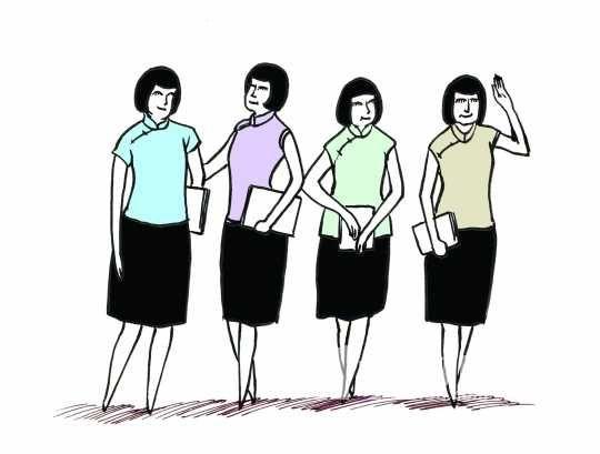广州高中开发特色课 女生穿旗袍学女红