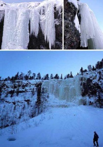 芬兰基兹普托斯瀑布