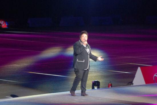 著名歌手韩红现场献唱