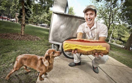 世界上最大的零售热狗