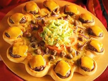 芝士汉堡比萨