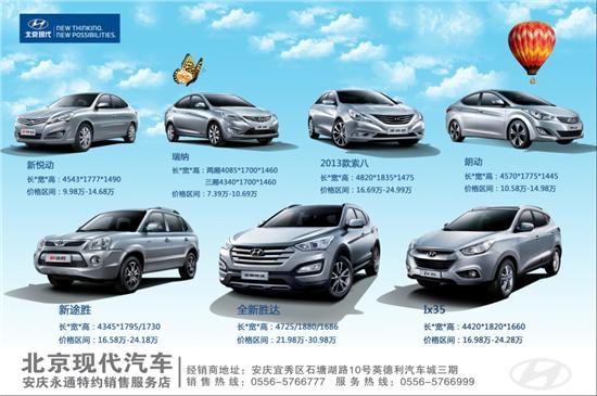 北京现代7月三款车型放价风暴震撼来临